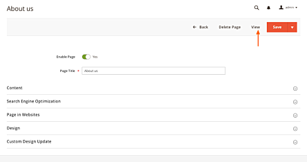 Cms Page View Button