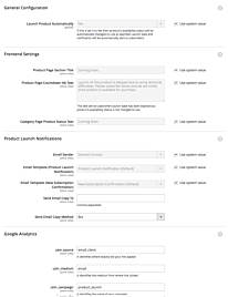 Magento 2 Coming Soon Products Settings