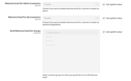 Disable welcome email for customers in Magento 2