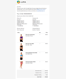 Magento 2 order email with images