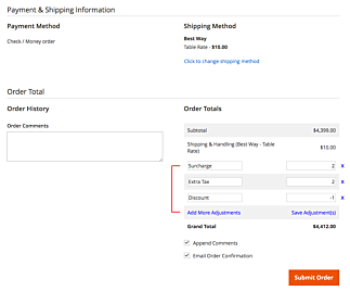Magento 2 New Order Total Apply Surcharge or Discount