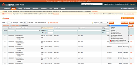 Magento 1 Unpaid Invoices Mass Actions