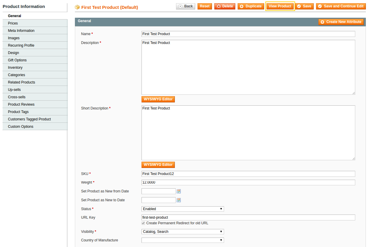 Magento extension for  Product, Category & Page View Button