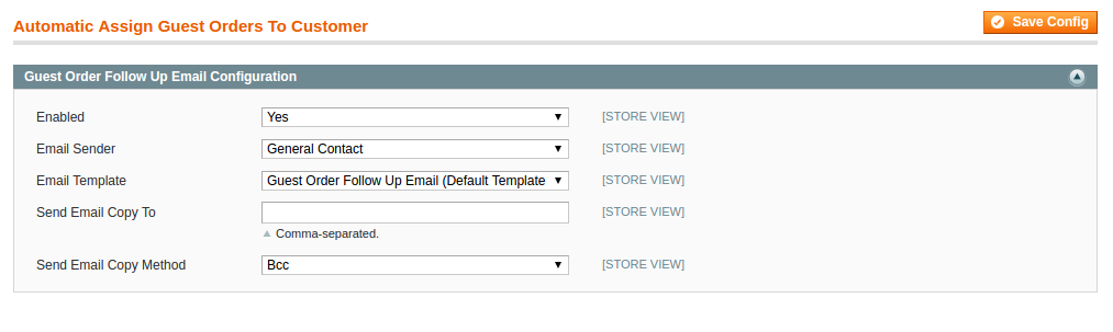 Magento extension for Automatic Assign Order to Guest