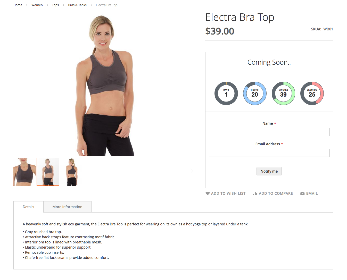 Magento 2 Extension for coming soon products