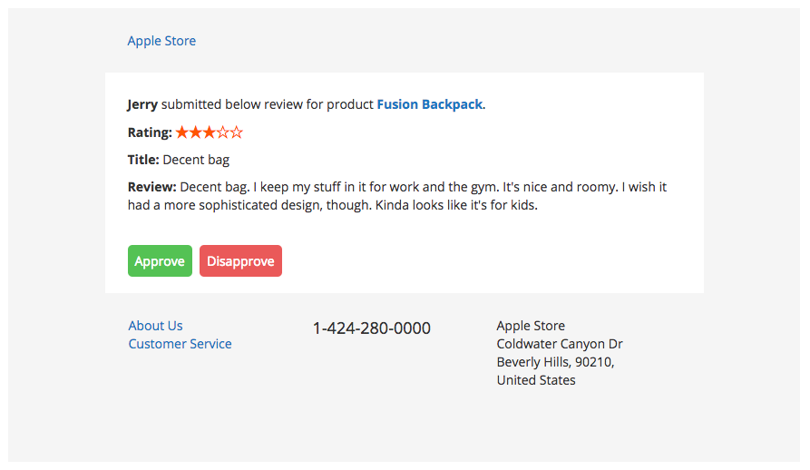 New Review Email Notification Email Magento 2