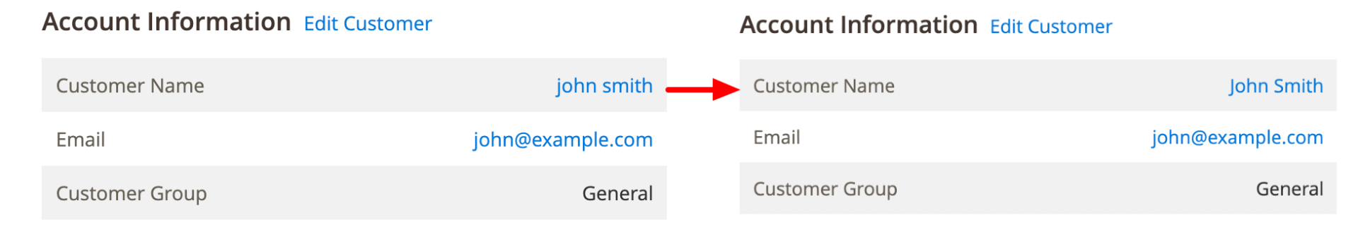 Format Customer Name in Order