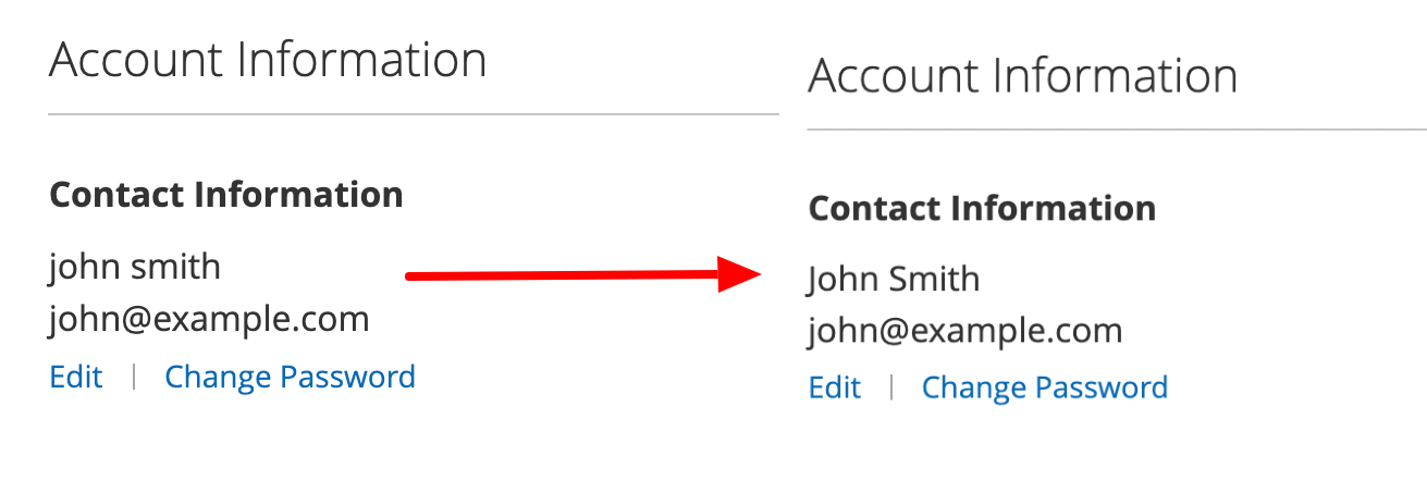 Format Customer Name in Customer Account